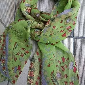 Just in! Handrolled Silk Floral Scarf